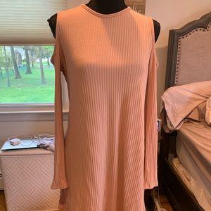 Pink boohoo sweater dress NWT